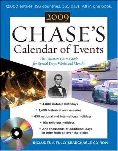 Calendar of Events 2009 The Ulitmate Go-To Guide for Special Days, Weeks, and Months 52nd 2009 9780071599542 Front Cover