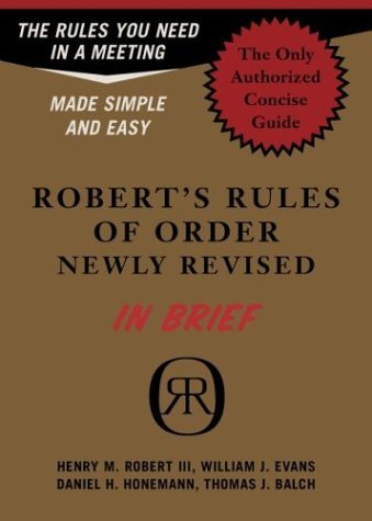 Robert's Rules of Order in Brief   2004 (Revised) edition cover