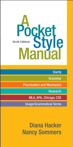 Pocket Style Manual  6th 2012 9780312542542 Front Cover