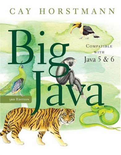 Big Java  3rd 2008 edition cover