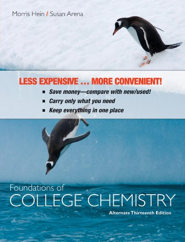 Foundations of College Chemistry  13th 2010 (Alternate) edition cover