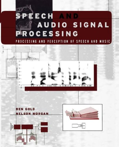 Speech and Audio Signal Processing Processing and Perception of Speech and Music 1st 2000 9780471351542 Front Cover