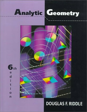 Analytic Geometry  6th 1996 (Revised) 9780534948542 Front Cover