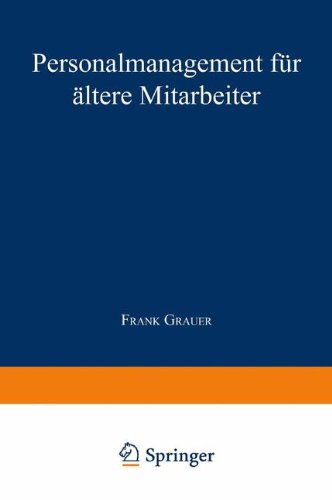 Personalmanagement F�r �ltere Mitarbeiter   1998 9783824466542 Front Cover