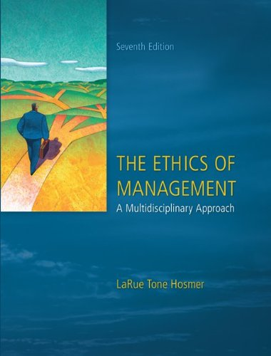 Ethics of Management  7th 2011 edition cover