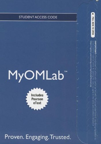 NEW MyOMLab with Pearson EText -- Access Card -- for Principles of Operations Mangement  9th 2014 edition cover