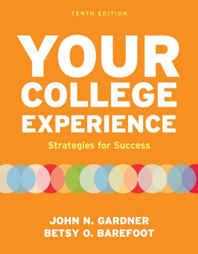 Your College Experience Strategies for Success 10th 2011 edition cover