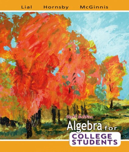 Algebra for College Students  6th 2008 edition cover