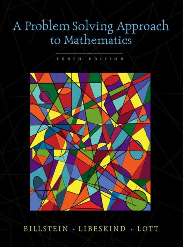 Problem Solving Approach to Mathematics  10th 2010 edition cover