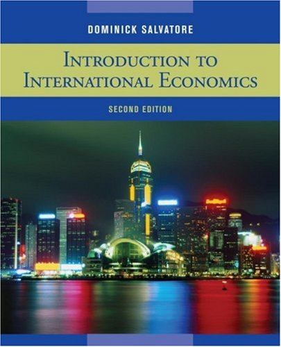 Introduction to International Economics  2nd 2010 edition cover