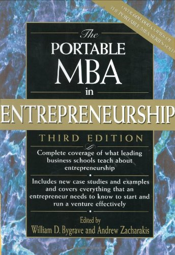 Portable MBA in Entrepreneurship  3rd 2004 (Revised) edition cover