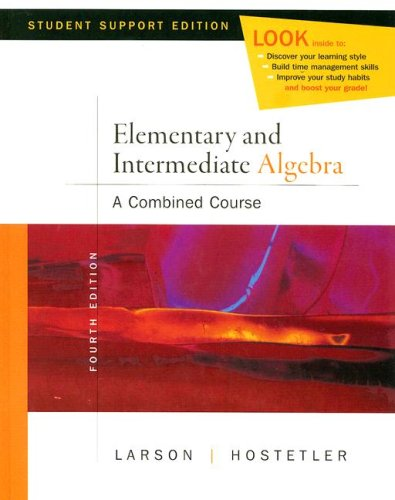 Elementary and Intermediate Algebra  4th 2008 9780618753543 Front Cover
