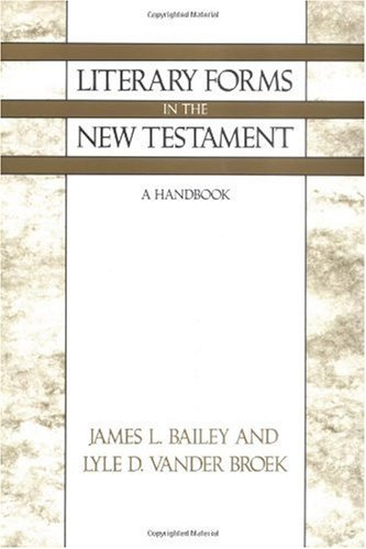 Literary Forms in the New Testament A Handbook N/A edition cover