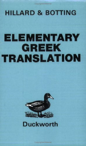 Elementary Greek Translation   1887 (Reprint) edition cover