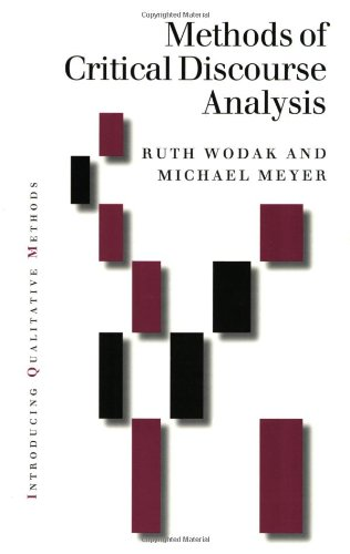 Methods of Critical Discourse Analysis   2002 9780761961543 Front Cover