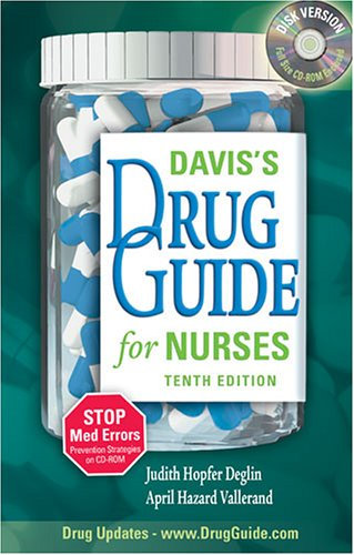 Davis's Drug Guide for Nurses  10th 2007 (Revised) edition cover