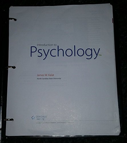 Introduction to Psychology (Loose Leaf) 11th 2016 9781305630543 Front Cover