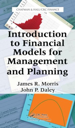 Introduction to Financial Models for Management and Planning   2009 9781420090543 Front Cover