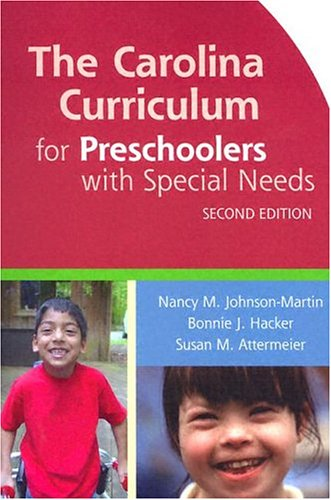 Carolina Curriculum for Preschoolers with Special Needs  2nd 2004 edition cover