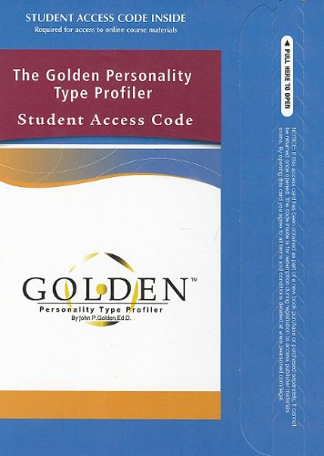 Golden Personality Type Profiler   2011 edition cover