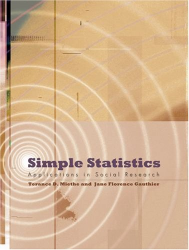 Simple Statistics Applications in Social Research  2008 edition cover