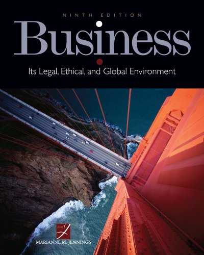 Business Its Legal, Ethical, and Global Environment 9th 2012 edition cover