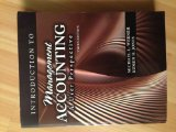 Introduction to Management Accounting: a User Perspective:  2009 (Revised) edition cover