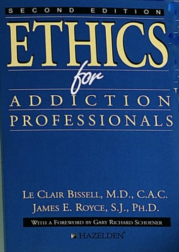 Ethics for Addiction Professionals  2nd 1994 edition cover