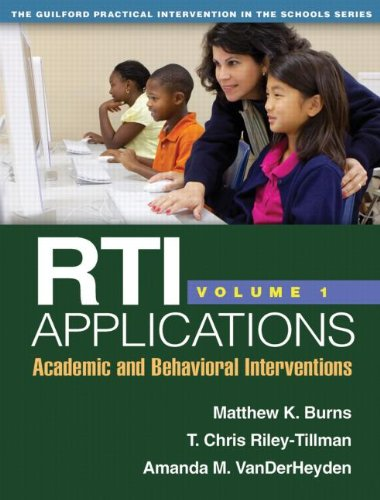 RTI Applications Academic and Behavioral Interventions  2012 edition cover