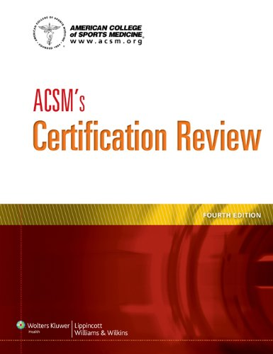 ACSM's Certification Review  4th 2014 (Revised) edition cover