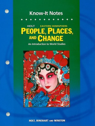 Holt People, Places, and Change An Introduction to World Studies 5th 9780030388545 Front Cover