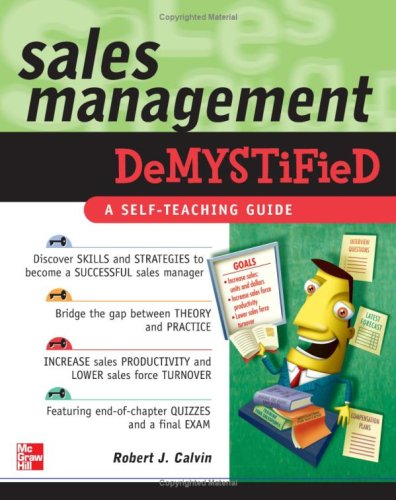 Sales Management Demystified   2007 9780071486545 Front Cover