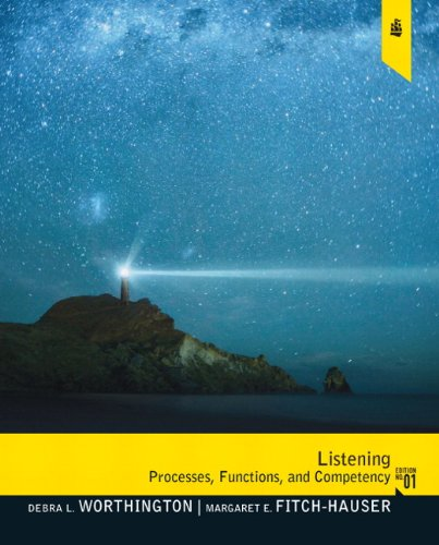 Listening Processes, Functions and Competency  2011 edition cover
