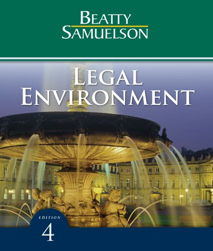 Legal Environment  4th 2011 edition cover
