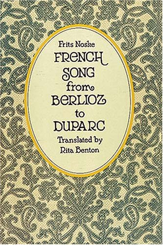 French Song from Berlioz to Duparc  2nd (Reprint) edition cover