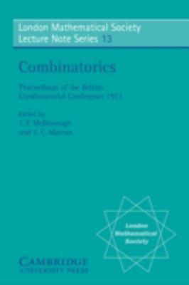 Combinatorics   1974 9780521204545 Front Cover