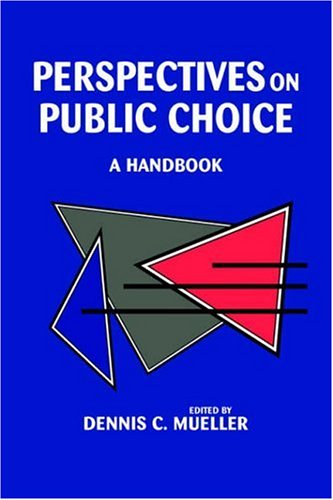 Perspectives on Public Choice A Handbook  1996 edition cover