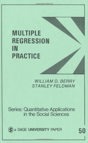 Multiple Regression in Practice   1985 edition cover