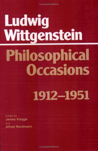Philosophical Occasions, 1912-1951   1993 edition cover