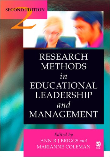 Research Methods in Educational Leadership and Management  2nd 2007 9781412923545 Front Cover