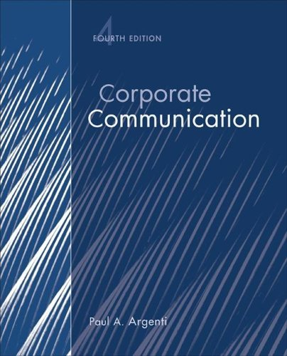 Corporate Communication  4th 2007 (Revised) edition cover