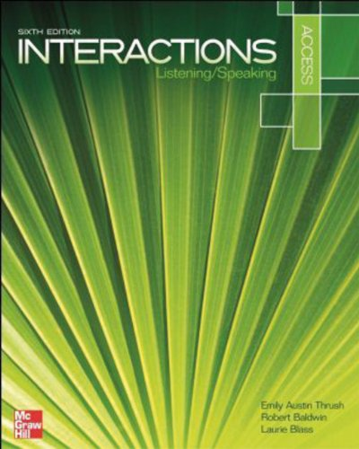 Interactions Access Listening/Speaking  6th (Student Manual, Study Guide, etc.) edition cover