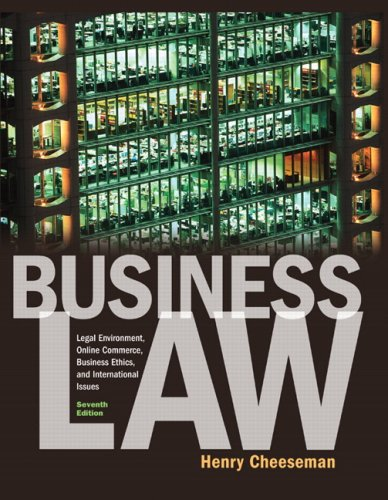 Business Law  7th 2010 edition cover