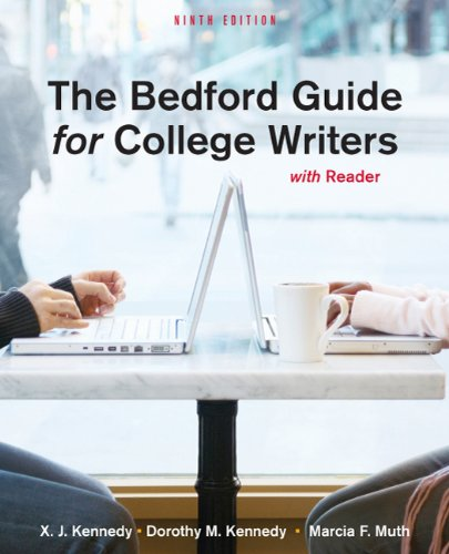 Bedford Guide for College Writers with Reader  9th edition cover