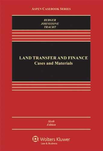 Land Transfer and Finance  6th 2011 (Revised) edition cover