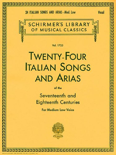 Twenty-Four Italian Songs and Arias of the Sevevteenth and Eighteenth Centuries  N/A edition cover