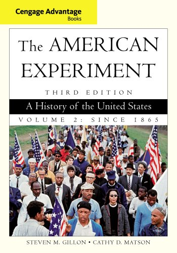 Cengage Advantage Books: the American Experiment A History of the United States, Volume 2: Since 1865 3rd 2013 edition cover