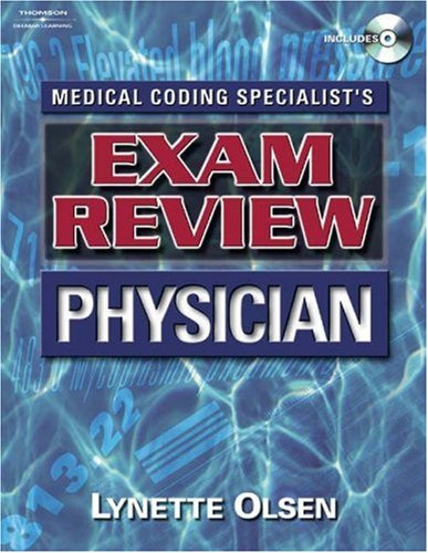 Medical Coding Specialist's Exam Review Physician   2005 9781401838546 Front Cover