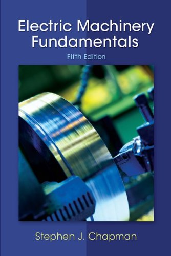 Electric Machinery Fundamentals  5th 2012 edition cover