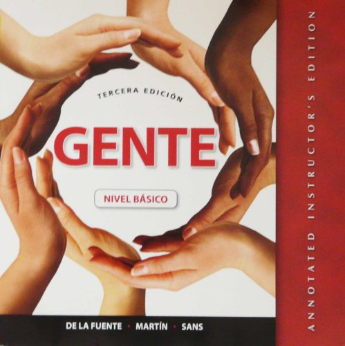 GENTE   -NIVEL BASICO >ANNOT.I N/A edition cover